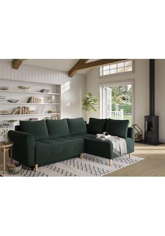 Home affaire Ecksofa »Nordic«, mit Bettfunktion und Bettkasten, Steppung, Federkern,... kaufen