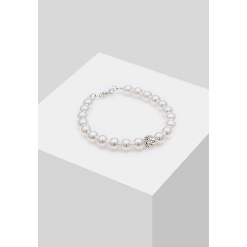 Elli Perlenarmband »Perlen Kristalle 925 Silber«