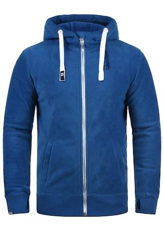 Solid Fleecejacke »Loki«, Sweatshirtjacke mit hochabschließendem Kragen kaufen