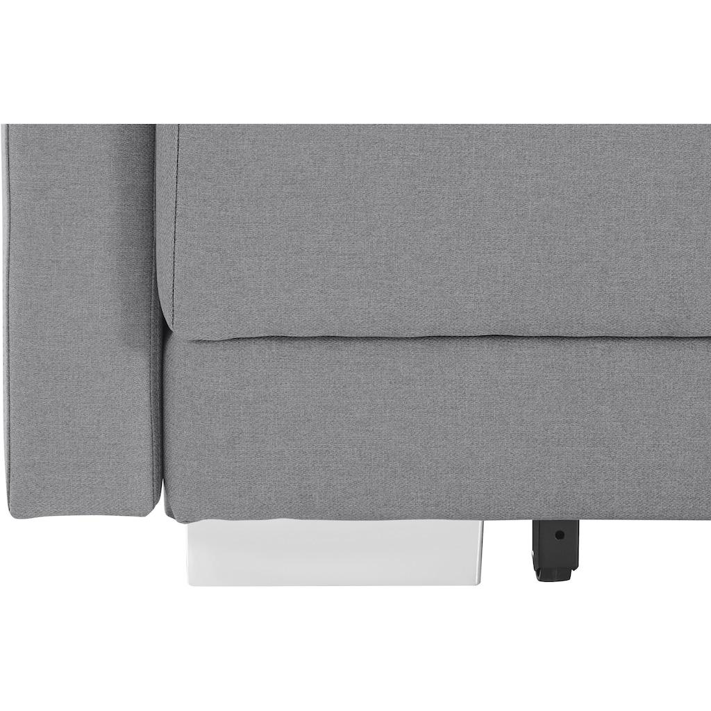 INOSIGN Schlafsofa »Alexander«, Boxspringfederung, incl. Bettfunktion und Bettkasten mit Komfort-Sitzhöhe