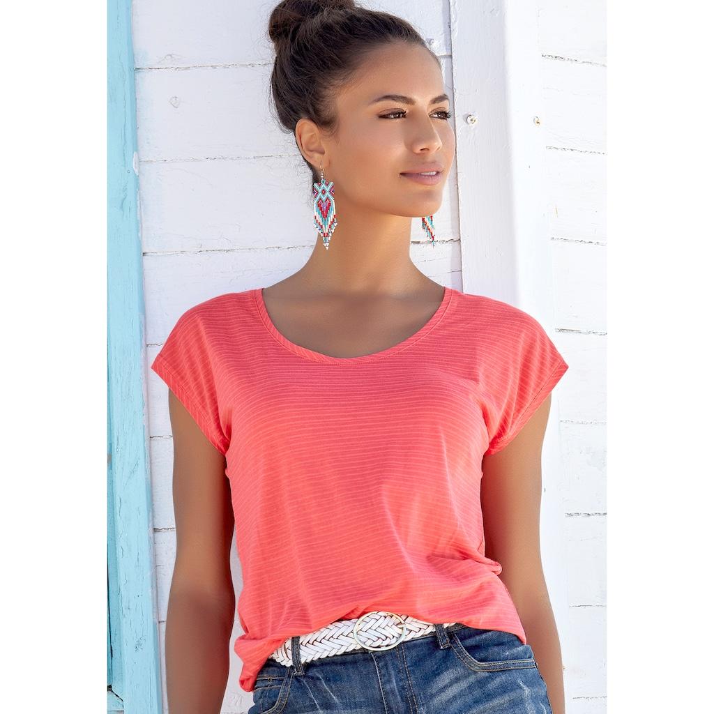 Beachtime T-Shirt, mit feinen Streifen