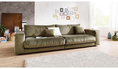 Places of Style Big-Sofa »Nizza«, bestehend aus Modulen, daher auch individuell aufstellbar; in hochwertiger Verarbeitung und gemütlichem Design, in Sitz- und Rückenkissen Beimischung von ca. 30% Federn kaufen
