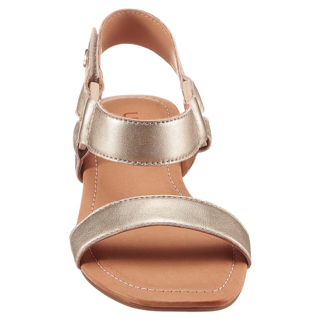 UGG Sandale »Rynell«, im Metallic Look