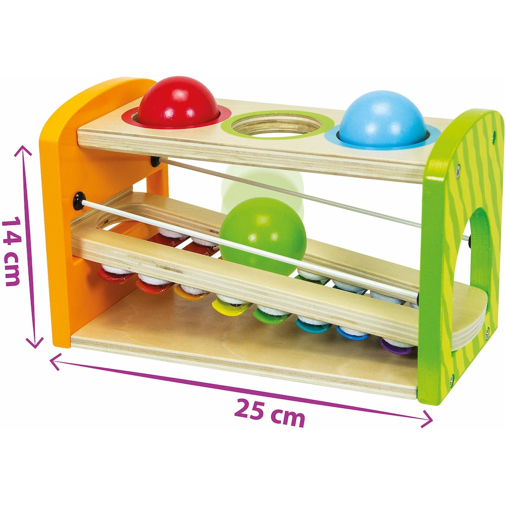 Eichhorn Spielzeug-Musikinstrument »Color, Xylophon Klopfbank«, aus Holz