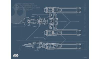 Komar Poster »Star Wars EP9 Blueprint Y-Wing«, Star Wars kaufen