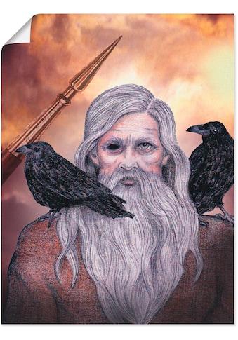 Artland Wandbild »Odin«, Götter, (1 St.), in vielen Größen & Produktarten... kaufen