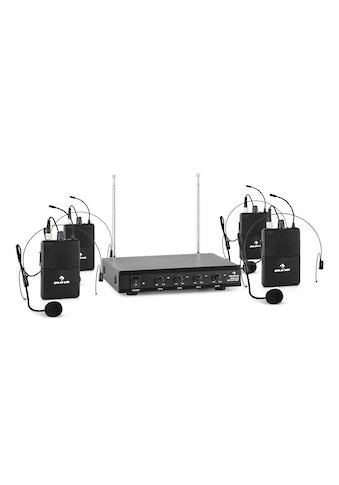 Auna 4-Kanal-VHF-Funkmikrofon Set 4xHeadset 50m Kabellos »VHF-4-HS« kaufen