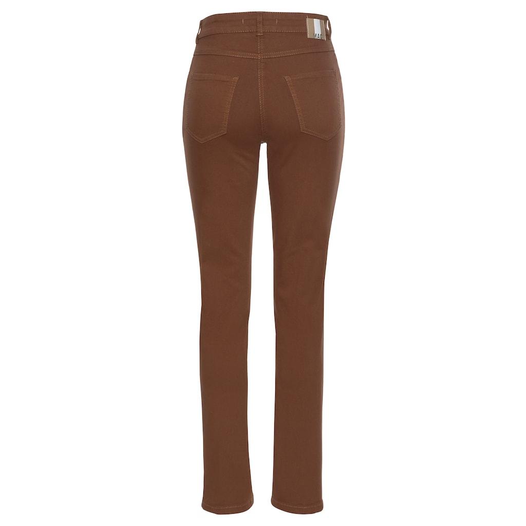 MAC Stretch-Jeans »Melanie Divided«, Streckender Einsatz am Bein