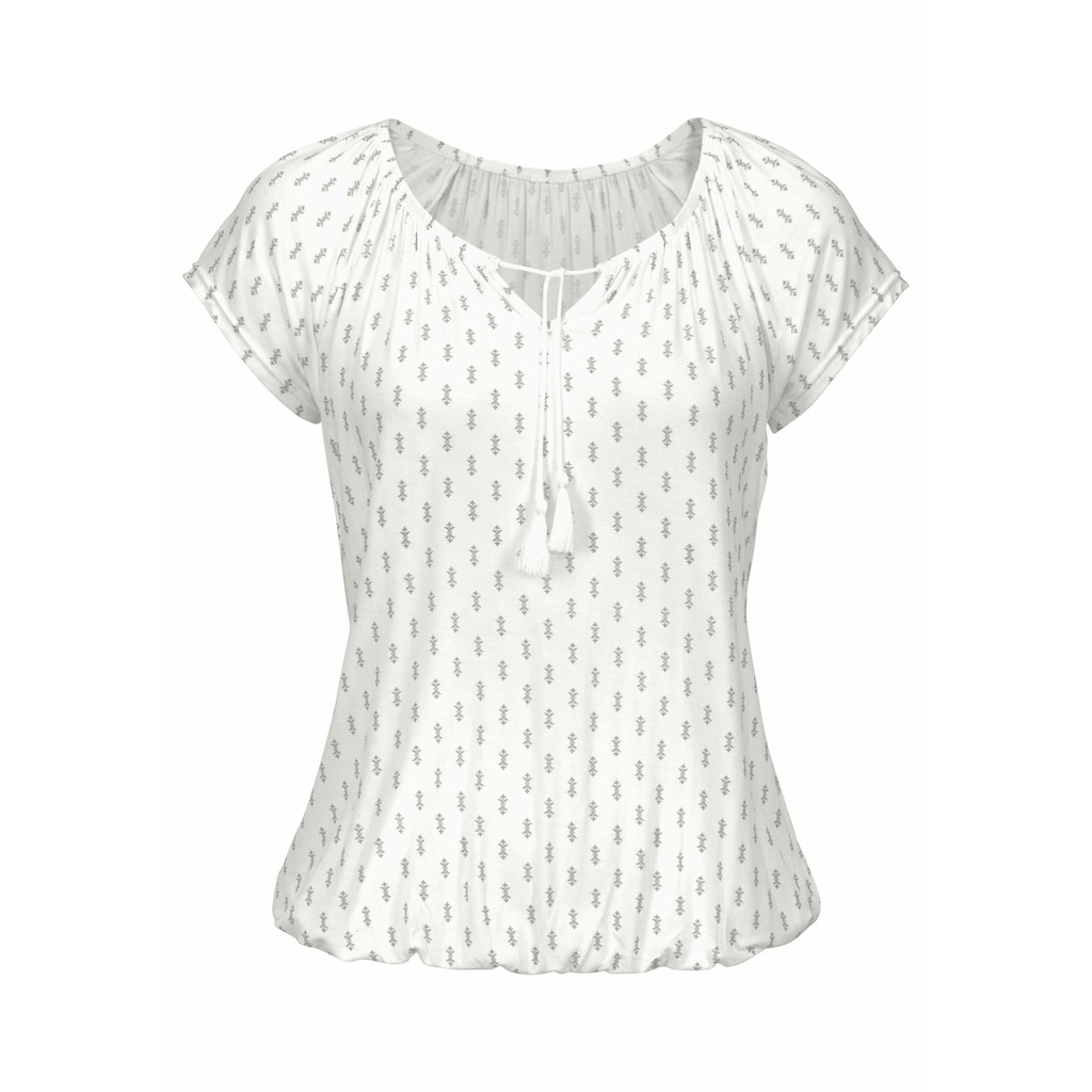 Vivance T-Shirt, mit leicht gerafftem Ausschnitt