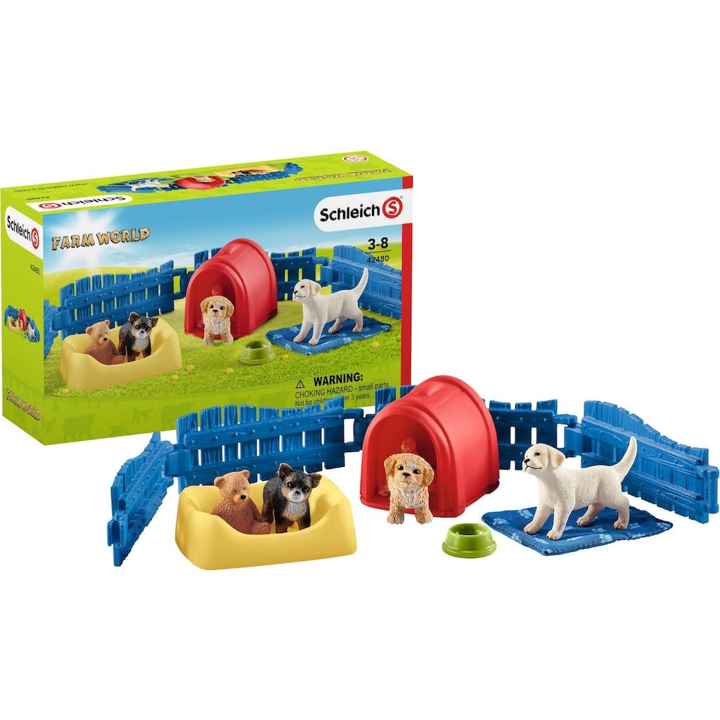 """Schleich® Spielwelt """"Farm World, Welpenstube (42480)"""""""