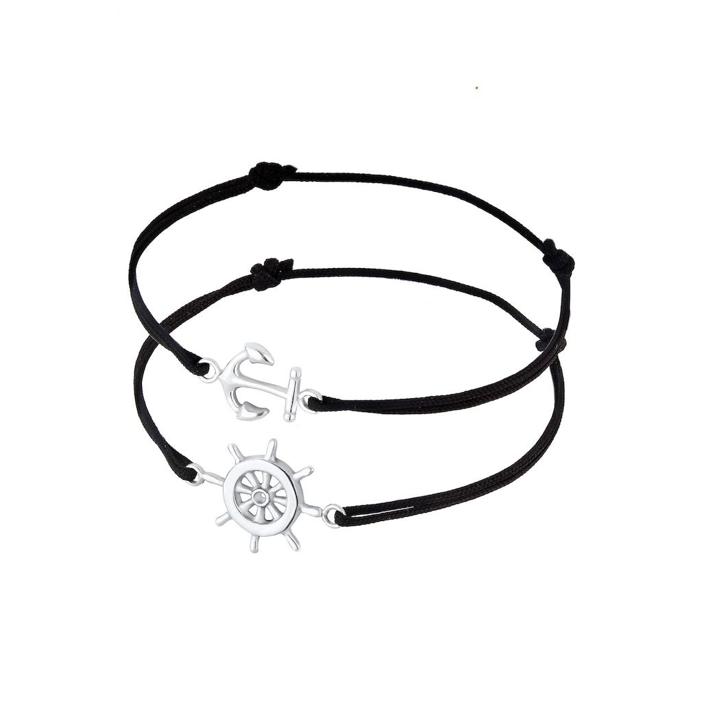 Elli Armband Set »Set Anker Steuerrad Freundschaft 925er Silber«