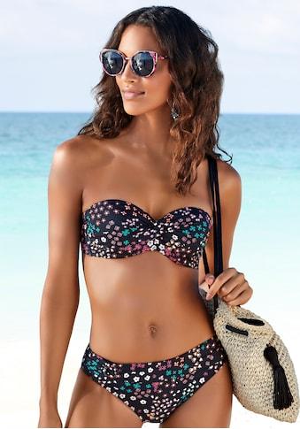 s.Oliver Beachwear Bügel-Bandeau-Bikini-Top »Milly«, mit Blumenprint kaufen