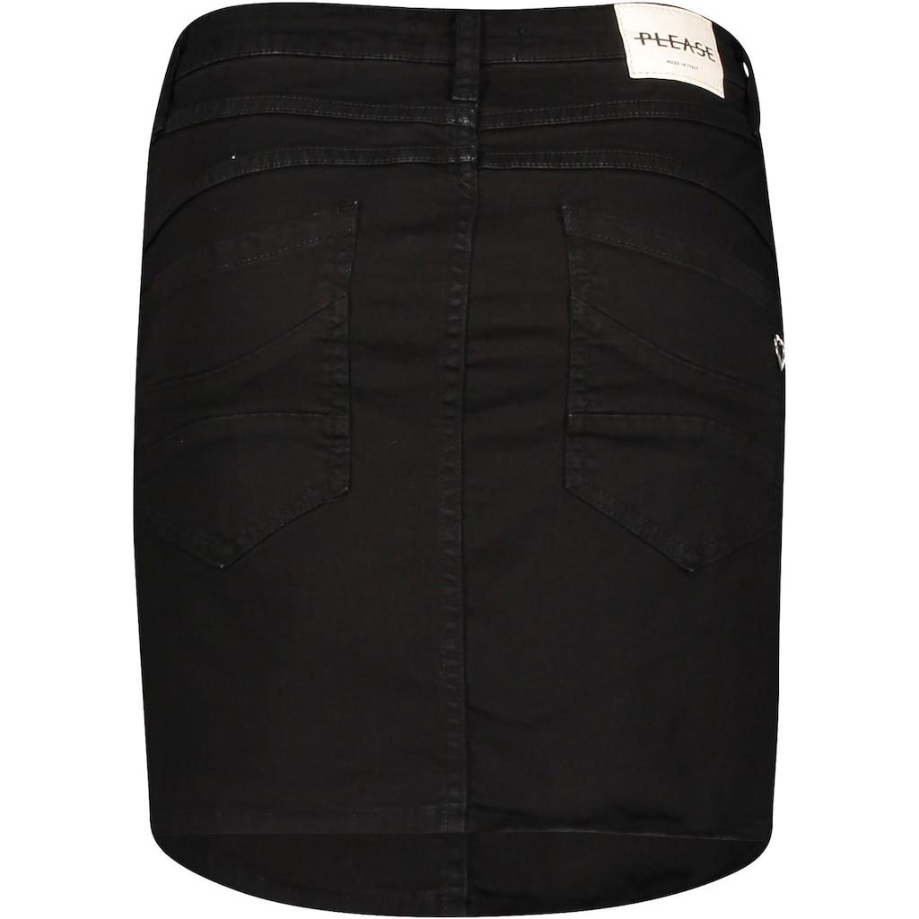 Please Jeans Jeansrock »G713«, colored Denim