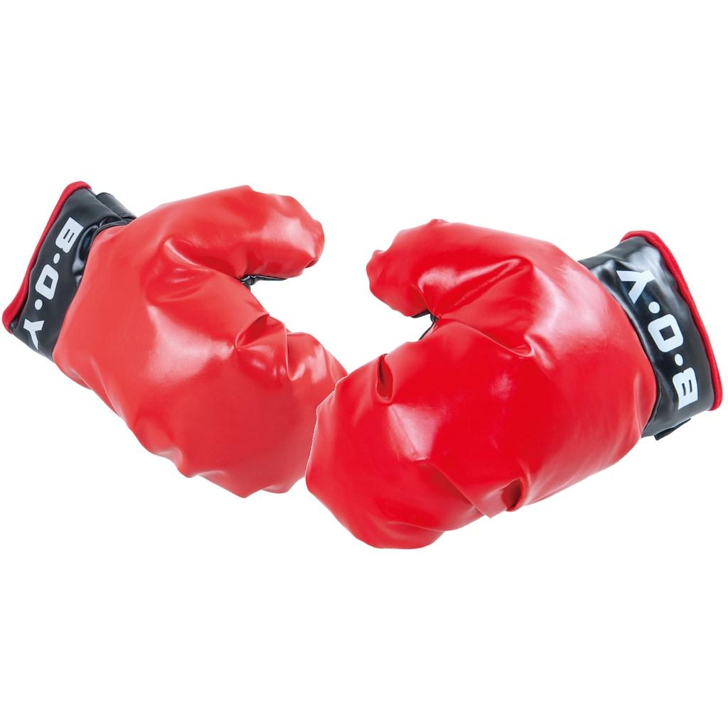 L.A. Sports Punchingball »Stand-Boxsack höhenverstellbar«, (Set, mit Boxhandschuhen)