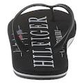 TOMMY HILFIGER Zehentrenner »NAUTICAL PRINT BEACH SANDAL«, mit modischem Logoschriftzug