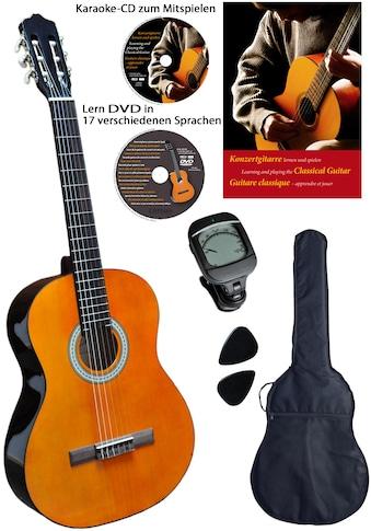 Clifton Konzertgitarre »Clifton - Konzertgitarre 4/4«, 4/4, Komplettset kaufen