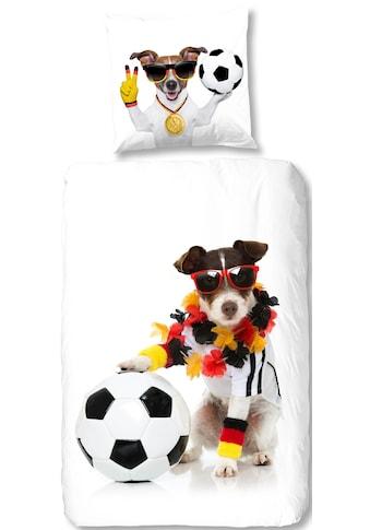 good morning Bettwäsche »Soccer Dog«, im WM Outfit kaufen