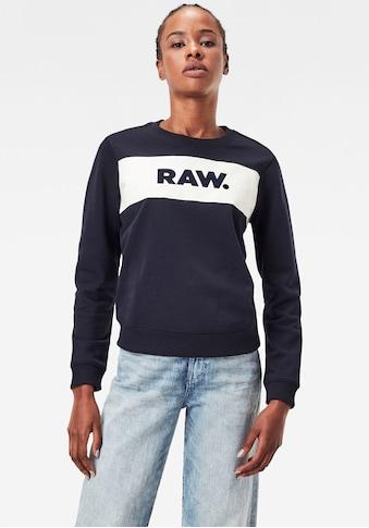 G-Star RAW Sweatshirt »Xzula Panel Raw GR Sweater«, mit G-Star Grafik auf der Brust kaufen