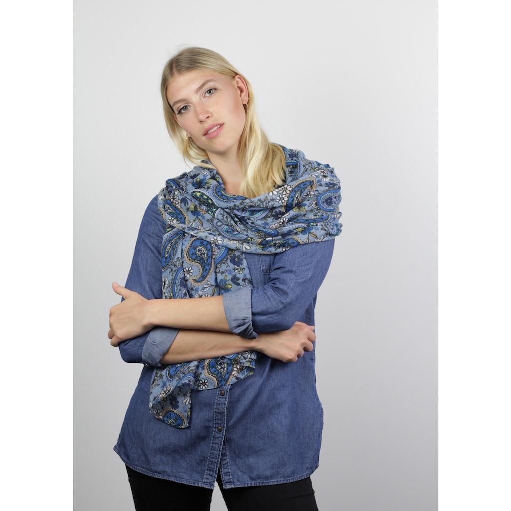 Codello Paisley-Schal aus recyceltem Polyester