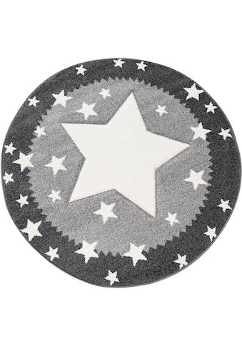 Kinderteppich, »Ela 398«, Paco Home, rund, Höhe 17 mm, maschinell gewebt kaufen