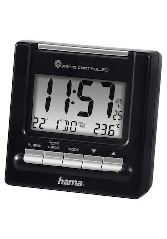 Hama Funk Wecker, digitaler Reisewecker, 2 Weckzeiten beleuchtet »Thermometer, Schlummerfunktion« kaufen
