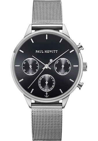 PAUL HEWITT Multifunktionsuhr »Everpulse Black Sunray Silber Mesh, PH002813« kaufen