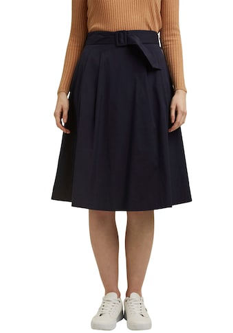 Esprit Collection Faltenrock, mit Gürtel zum Binden und breiter Schnalle kaufen