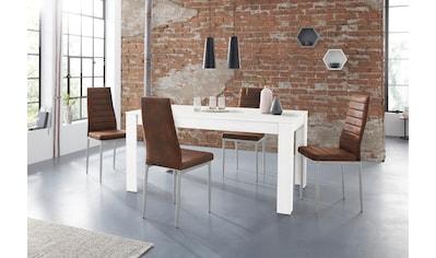 Essgruppe »Lynn160/Kate«, (Set, 5 tlg.), Tisch mit 4 Stühlen kaufen