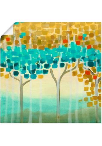 Artland Wandbild »Waldmosaik II«, Muster, (1 St.), in vielen Größen & Produktarten - Alubild / Outdoorbild für den Außenbereich, Leinwandbild, Poster, Wandaufkleber / Wandtattoo auch für Badezimmer geeignet kaufen