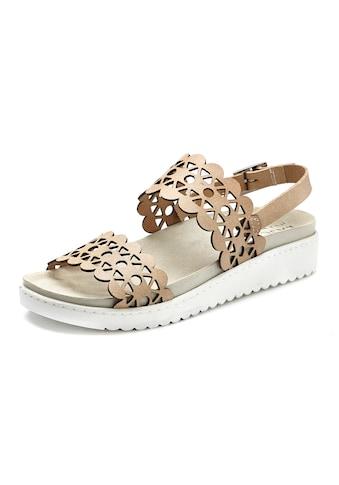 LASCANA Sandale, aus Leder mit bequemem Leder-Fußbett und modischen Cut-Outs kaufen