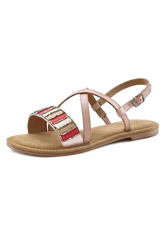 LASCANA Sandale, aus Leder mit dekorativem Band kaufen