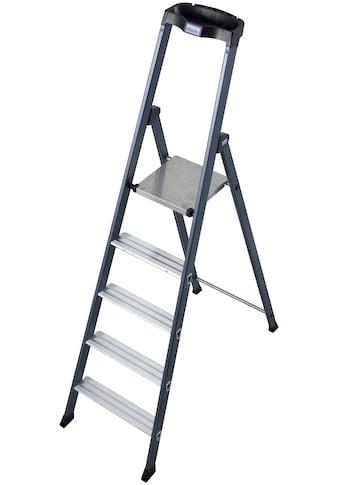 KRAUSE Stehleiter »SePro S«, Alu eloxiert, 1x5 Stufen, Arbeitshöhe ca. 305 cm kaufen