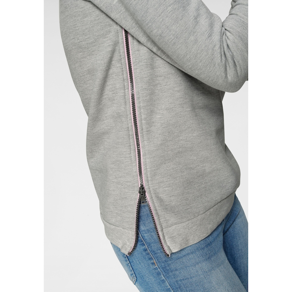 Ocean Sportswear Sweatshirt, mit Reißverschlüsse seitlich am Saum