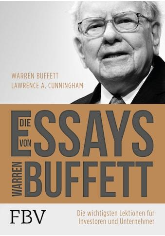 Buch »Die Essays von Warren Buffett / Warren Buffett, Lawrence A. Cunningham« kaufen