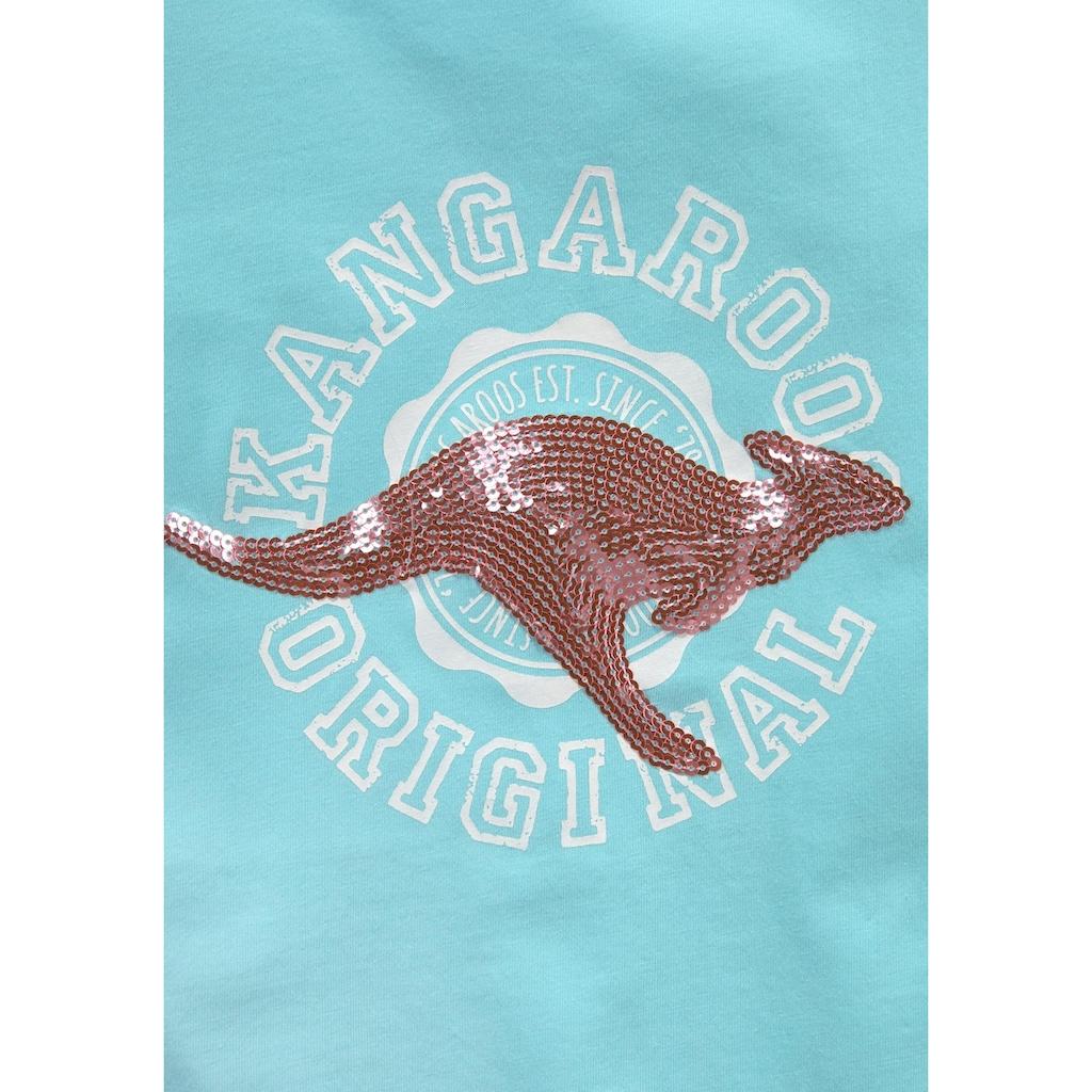 KangaROOS T-Shirt, mit Paillettenapplikation
