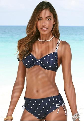 s.Oliver Beachwear Bügel-Bikini-Top »Audrey«, im Punkte und Streifen Mix kaufen