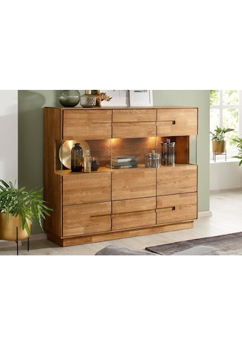Premium collection by Home affaire Highboard »Pavo«, inklusive LED Beleuchtung kaufen
