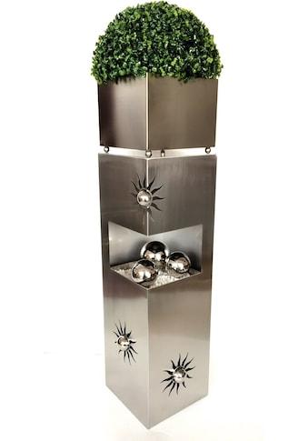 HGD Holz - Glas - Design Metallsäule aus Edelstahl kaufen