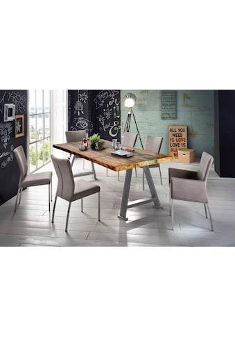 SIT Esstisch »Tops&Tables«, mit Platte aus recyceltem Altholz mit Farbresten, Shabby... kaufen