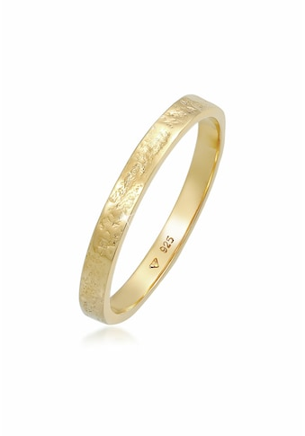 Elli Fingerring »Bandring Partnerring Basic Organic Look 925 Silber« kaufen