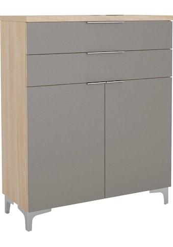 Maja Möbel Schuhschrank »SHINO Garderobe«, 2 höhenverstellbare Einlegeböden, passend für mind. 9 Paar Schuhe, Schubladen auf Unterflurauszügen mit Selbsteinzug und Filzeinlage kaufen