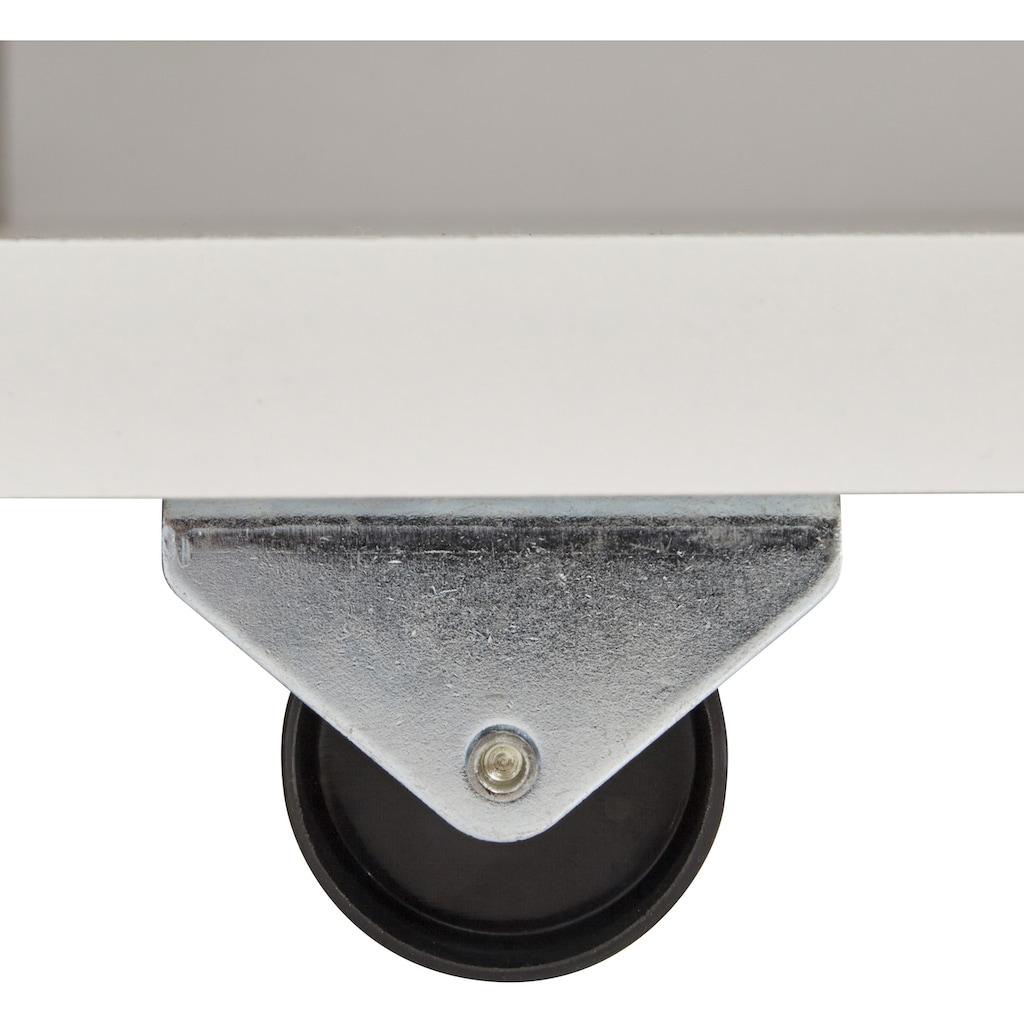 Breckle Futonbett, mit ausziehbaren Regalen im Kopfteil