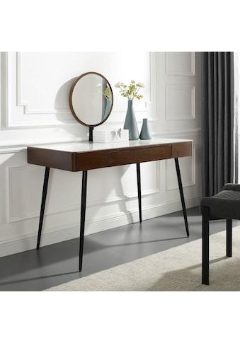 Leonique Schminktisch »Sarina«, Konsole, Schreibtisch, Keramiktischplatte in Marmoroptik, 1 Schublade, Spiegel kaufen