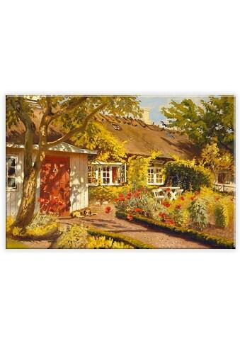 Wall-Art Leinwandbild »Olaf Viggo Peter Langer - Das Gartenhaus«, in 2 Größen kaufen