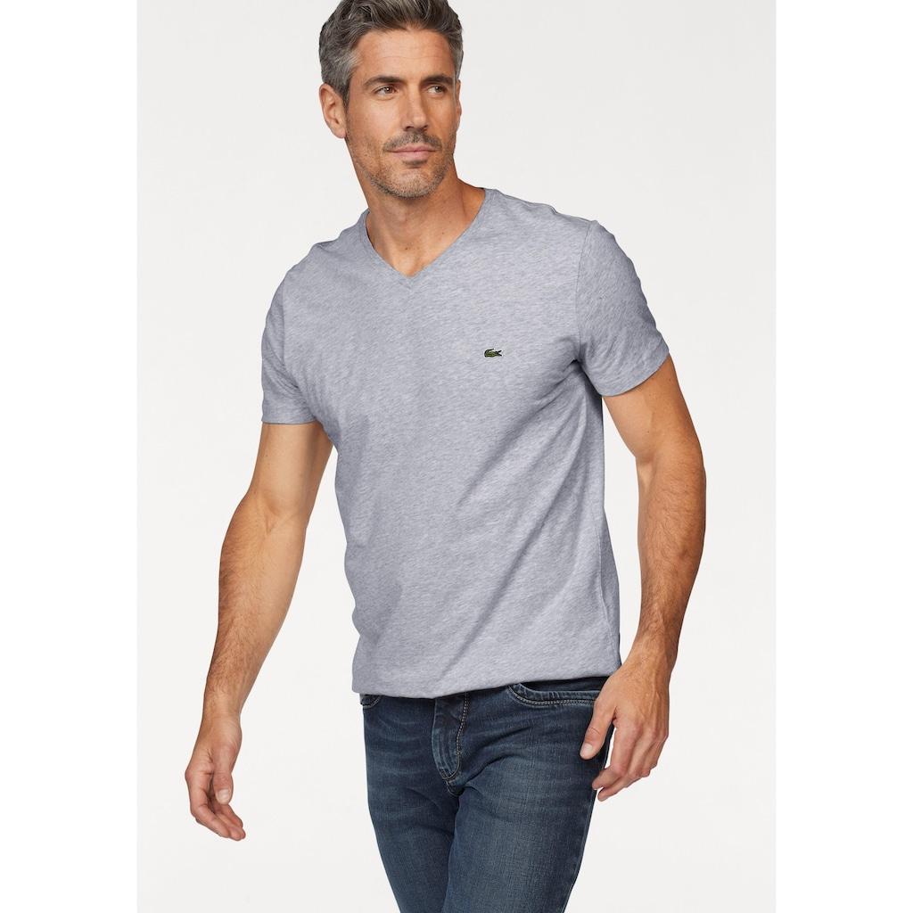 Lacoste V-Shirt, aus reiner Baumwolle