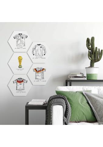 Wall-Art Mehrteilige Bilder »Fußballtrikots Deutschland Set«, (Set, 5 St.) kaufen