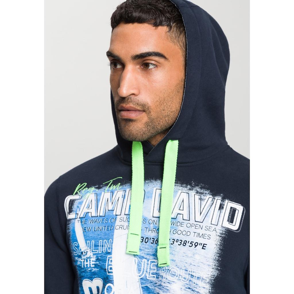 CAMP DAVID Kapuzensweatshirt, Mit vielen großen Printelementen