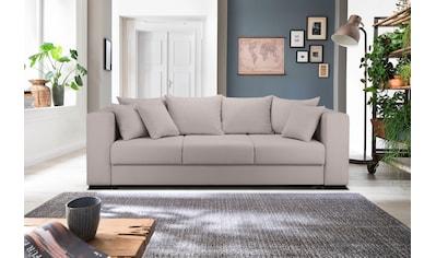 Home affaire 3-Sitzer »Foggia«, auch mit Bettfunktion/Bettkasten erhältlich, inklusive 3 Zierkissen kaufen