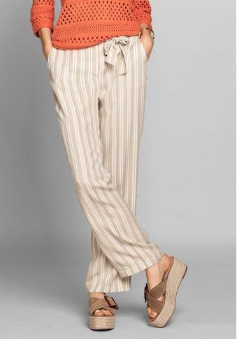 bianca Stoffhose »PARIGI«, im angesagten Streifen-Design mit Bindegürtel kaufen