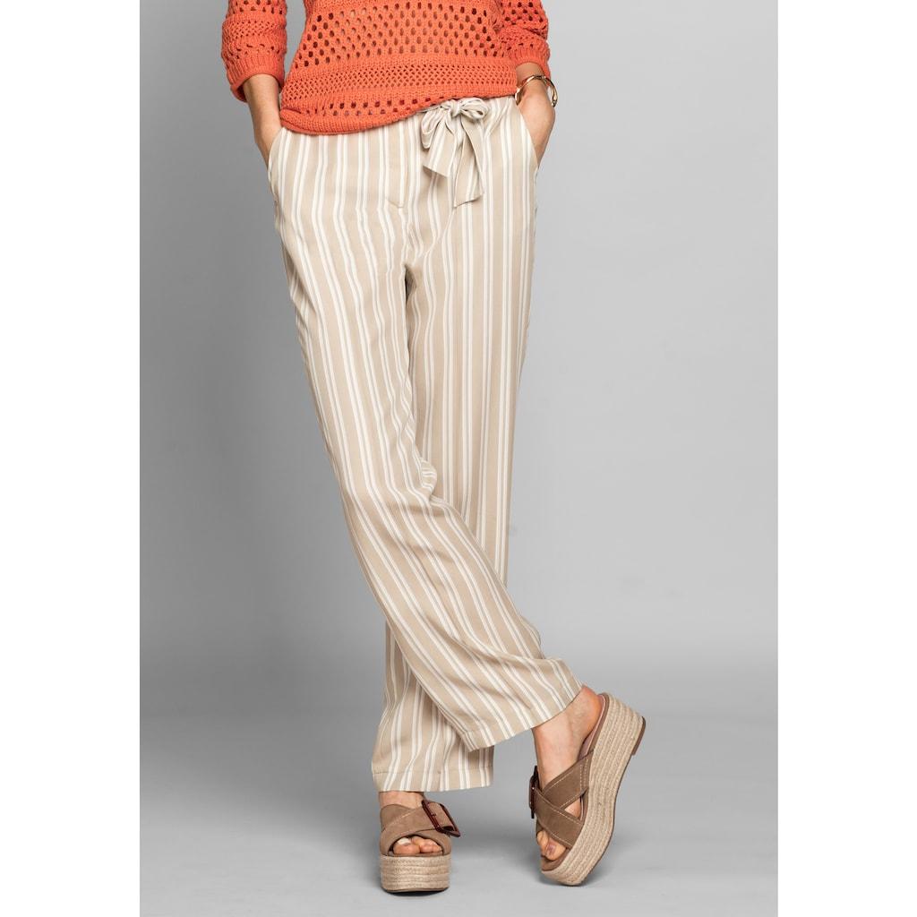bianca Stoffhose »PARIGI«, im angesagten Streifen-Design mit Bindegürtel